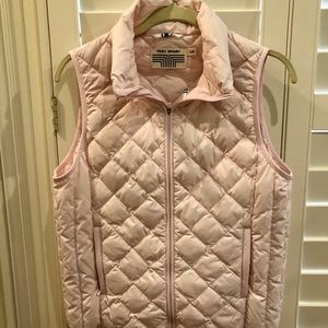 Tory Burch Sport Down Vest Size Large Light Pink